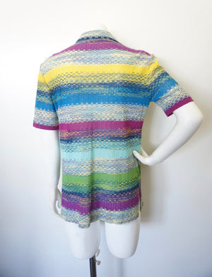 ICONIC MISSONI ZIG ZAG KNIT TOP