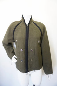 MARTIN MARGIELA GREEN WOOL JACKET