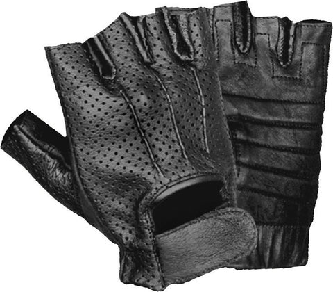 Strongman Weightlifting and CrossFit Fingerless Leather Glove