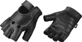 Mighty Reach Perforated Weight Lifting & Motorcycle  Fingerless Leather Glove