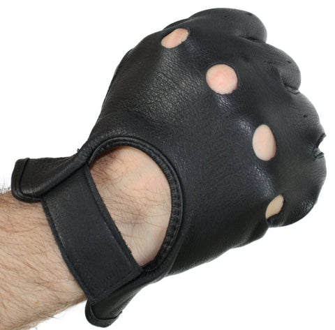 Soft but Durable Deerskin Leather Perforated Driving Glove