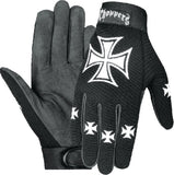 Biker Mesh Racing Glove with Leather Reinforced Palms