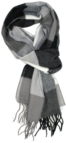 Bold Check Cashmere Feel Men's Scarf