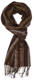 Classic Cashmere Feel Richly Striped Scarf