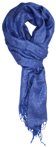 Classic Soft Draping Metallic Wrap Scarf