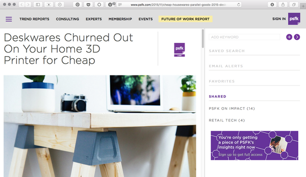 Parallel Goods on PSFK!