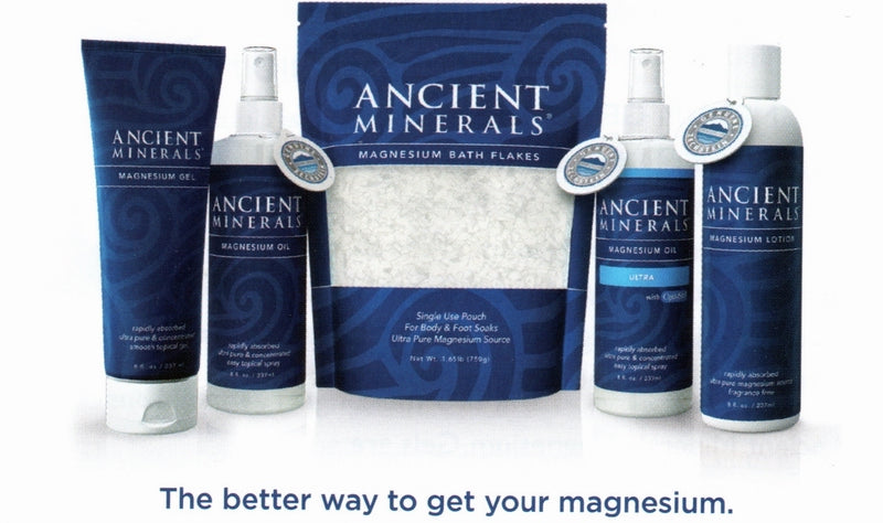 Ancient Minerals Magnesium Oil, Gel, Lotion, Bath Flakes and Ultra Range | The Holistic Shop in Wagga Wagga