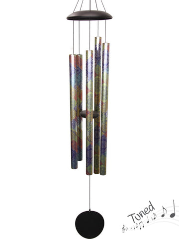 Natures Melody Tuned Wind Chime Mandala - Silver Metal Tubes - Feng Shui - Home Decor - 142cm