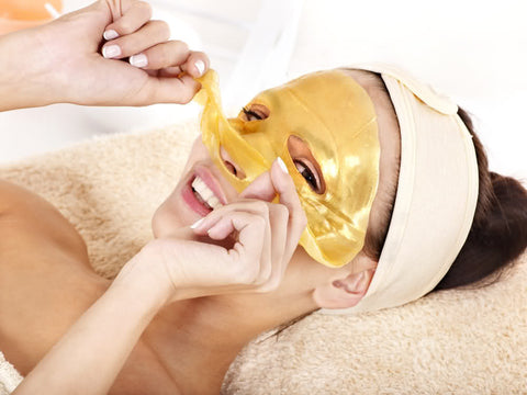 24k Gold Collagen Facial Mask with Crystal Collagen - Single Mask