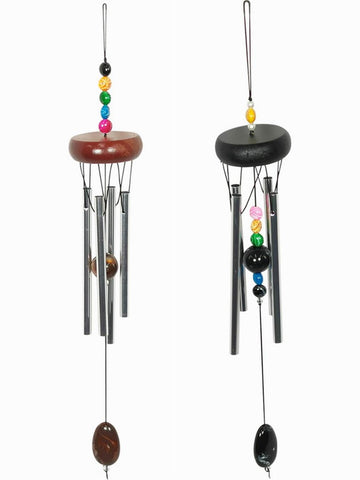 Rainbow Bead Wind Chime - Metal Tubes - Feng Shui - Home Décor - 40cm