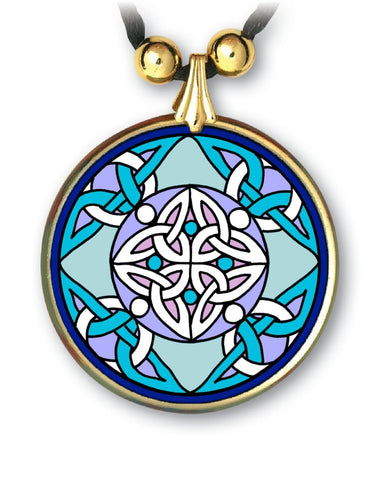 Celtic Angels Pendant - handcrafted - each piece unique