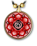 Root Chakra Mandala Pendant and Earrings