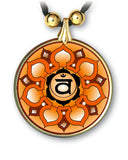 Sacral Chakra Mandala Pendant and Earrings