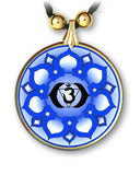 Brow Third Eye Chakra Mandala Pendant and Earrings