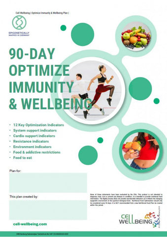 Hair Analysis - 90 Day Optimized Immunity and Well Being Nutritional Report
