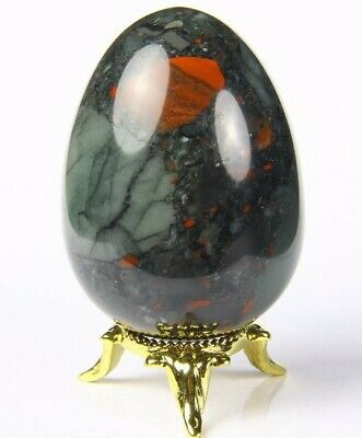 African Bloodstone Egg 50mm - Cleansing, Colds, Detoxifying, Flu and Healing - Crystal Healing - Gift Idea