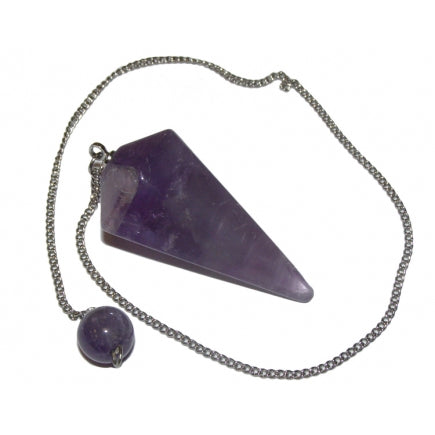 Amethyst Faceted Pendulum - Protection • Awareness • Harmony • Purification