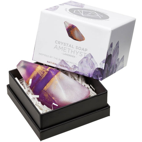 AMETHYST Crystal Inspired Soap - Gift Boxed - Lavender - February Birthstone