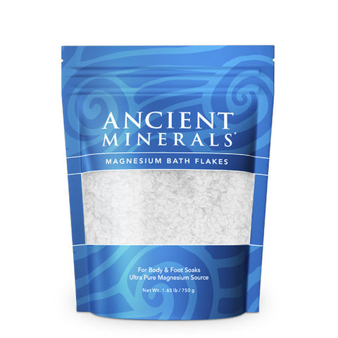 Ancient Minerals Magnesium Oil Bath Flakes - Genuine Zechstein - 750g