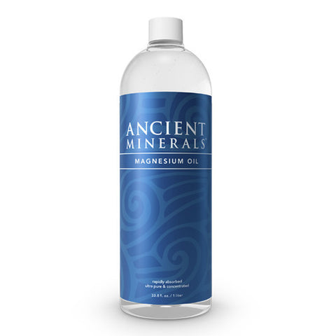 Ancient Minerals Magnesium Oil Bottle - Genuine Zechstein - 1-Litre