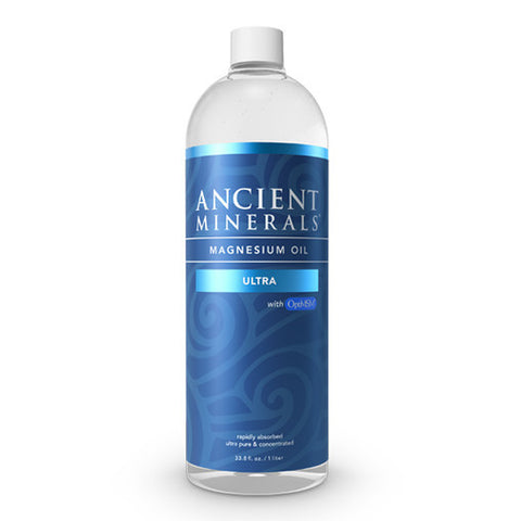 Ancient Minerals Magnesium Oil ULTRA with MSM Bottle - Genuine Zechstein - 1-Litre