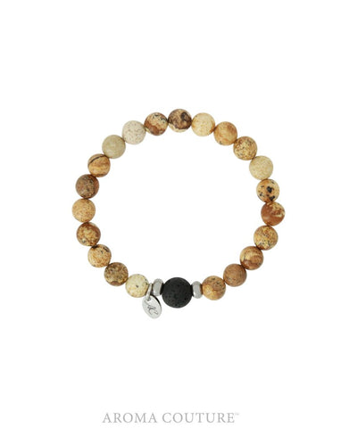 Kid's Picture Jasper and Little Lava Diffuser Bracelet- Aroma Couture