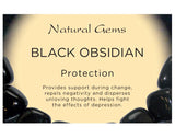 Black Obsidian (Medium) Tumbled Stone - Protection, Grounding and Healing - Crystal Healing