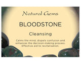 Bloodstone Tumbled Stone - Cleansing, Colds, Detoxifying, Flu and Healing - Crystal Healing