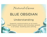 Blue Obsidian (Medium) Tumbled Stone - Understanding, Calming and Soothing - Crystal Healing