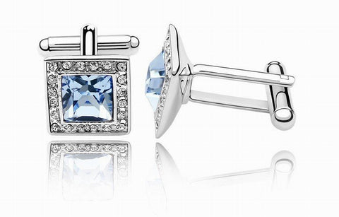Swarovski Austrian Crystal Elements Cuff Links - Not to be Square - Business Wear - Formal Wear - School Formals - Father's Day Gift Idea