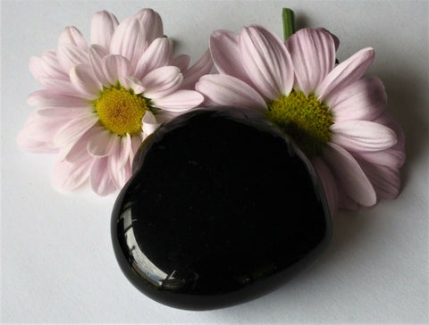Black Obsidian Puff Heart 45mm - Protection, Grounding and Healing
