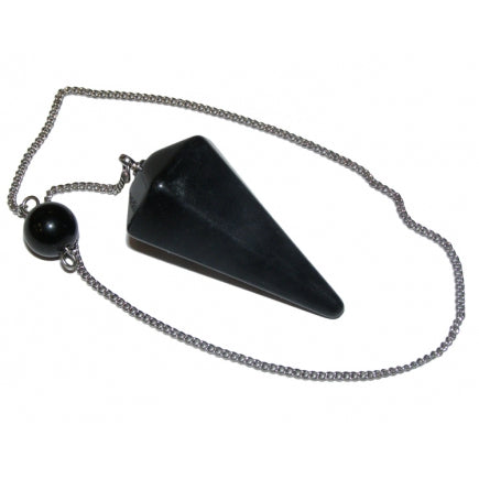 Black Onyx Faceted Pendulum- Protection • Grounding •  Encouragement • Strength