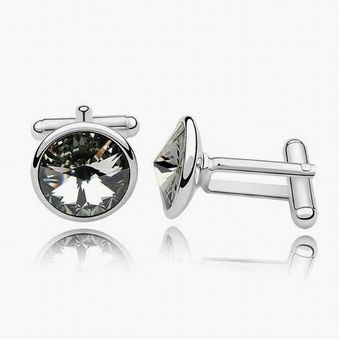 Swarovski Austrian Crystal Elements Cuff Links - Black Tie - Business Wear - Formal Wear - School Formals - Father's Day Gift Idea