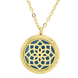 Blossom Aromatherapy Essential Oil Diffuser Necklace - 14k Gold Plate - Free Chain