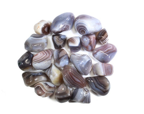 Botswana Agate Tumbled Stone -  Detoxification, General Health and Emotional Healing - Crystal Healing