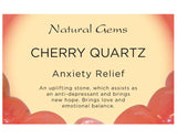 Cherry Quartz Tumbled Stone - Anxiety Relief and Uplifting