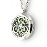 Celtic Trinity Knot Design Aromatherapy Essential Oil Diffuser Necklace - 25mm Silver - Free Chain - Christmas Gift Idea