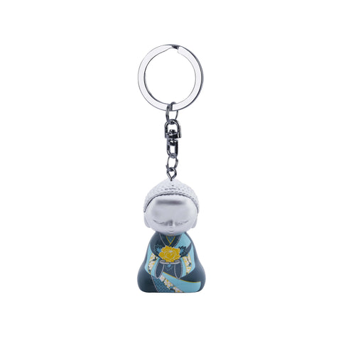 Little Buddha Figurine Keychain - Key Ring - Character Catches the Heart - Gift Idea