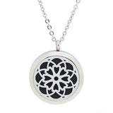 Cosmic Flower Diffuser Necklace Silver - Free Chain