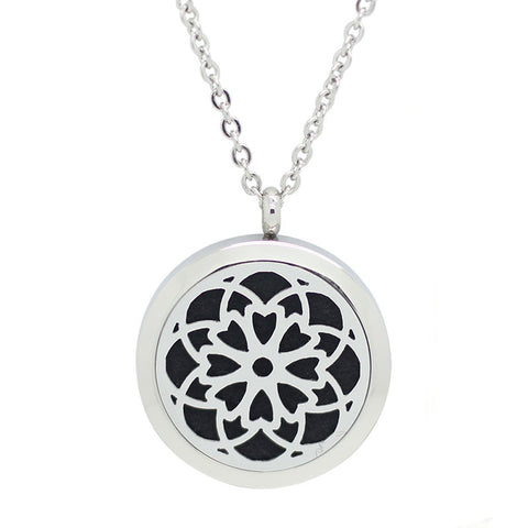 Cosmic Design Aromatherapy Essential Oil Diffuser Necklace Silver - Free Chain - Valentine's Day Gift
