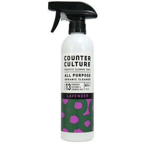 All Purpose Spray 500ml - Anytime Anywhere - Lavender - Organic with Probiotics - Probiotic Solutions - NON Toxic - Counter Culture