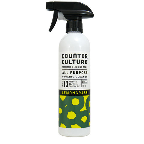 All Purpose Spray 500ml - Anytime Anywhere - Lemongrass - Organic with Probiotics - Probiotic Solutions - NON Toxic - Counter Culture