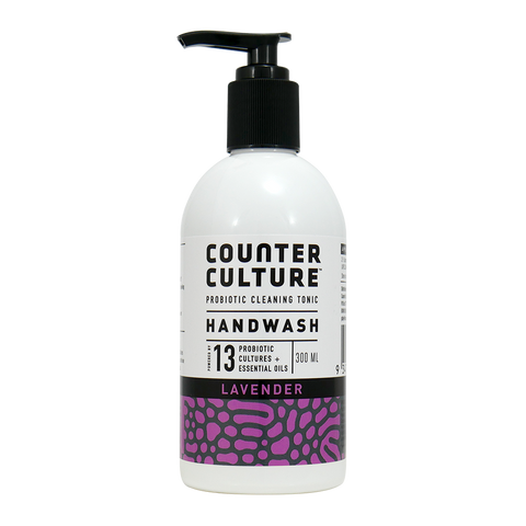 Hand Wash 300ml - Healthy Hands - Lavender - Organic with Probiotics - Probiotic Solutions - NON Toxic - Counter Culture