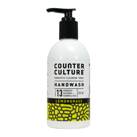 Hand Wash 300ml - Healthy Hands - Lemongrass - Organic with Probiotics - Probiotic Solutions - NON Toxic - Counter Culture