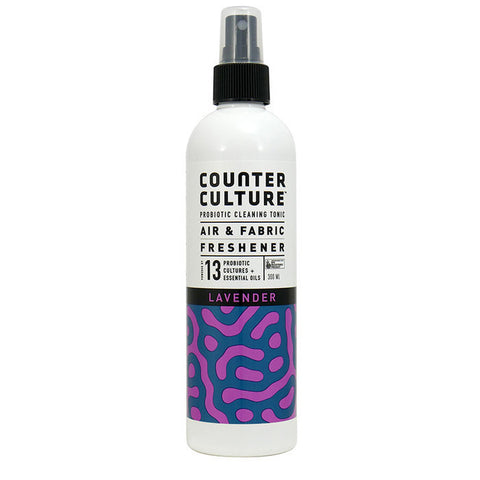Room and Fabric Freshener Spray 300ml - Room Fresh - Lavender - Organic with Probiotics - NON Toxic - Probiotic Solutions - Counter Culture