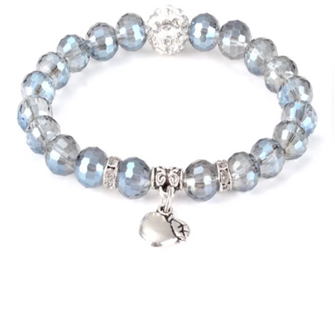 Divine Apple Healing Gemstone Yoga Bracelet - with Swarovski Element Crystals - Gift Idea