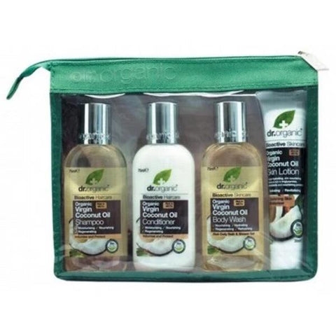 Dr Organic Mini Travel Pack 4 items - Organic Virgin Coconut Oil - Gift idea