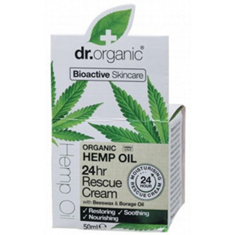 Dr Organic Hemp Oil 24 Hour Skin Rescue Cream 50ml