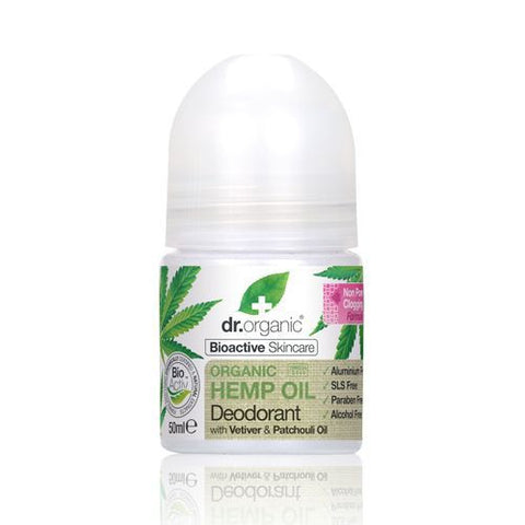 Dr Organic Hemp Oil Roll-On Deodorant 50ml