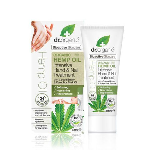 Dr Organic Hemp Oil Intensive Hand and Nail Treatment 100ml